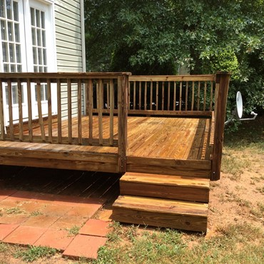 Deck after being cleaned